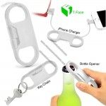 Multifunction Data Line Bottle Opener Keychain