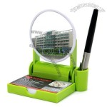 Multifunction Desktop Name Card Holder with Mirror and Clip Storage