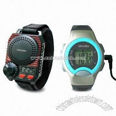 Multifunction FM Radio Watch with Built-in Speaker