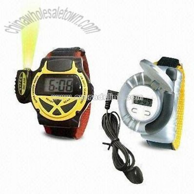 Multifunction FM Radio Watch with Mini Torch and Earphone