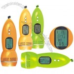 Multifunction Flashlight with FM Radio and LCD Display Time