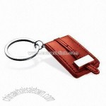 Multifunction Keychain with Faux Leather Photo Frame