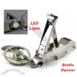 Multifunction Nail Clippers with Bottle Opener and LED Light