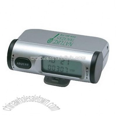 Multifunction Pedometer with belt clip and alarm clock
