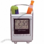 Multifunction Pen Holder with Clock and Perpetual Calendar