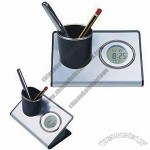 Multifunction Pen Holder with Clock