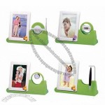 Multifunction Photo Frame with Floating Pen and Clock Penholder and Radio