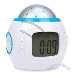 Multifunctional Promotional LCD Table Clock in Cute Design