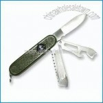 Multifunctional Stainless Steel Army Knife with Bottle Opener