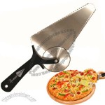 Multifunctional Stainless Steel Pizza Knife/Cutter in Plastic Handle