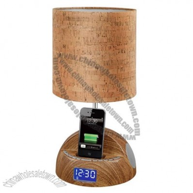 Multifunctional Table Lamp With Clock And Music Play And Phone Charging