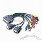 Multimedia Cable with 9 RCA Connector