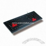 Multimedia Keyboard with Scissors Technology