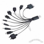 Multiple Adapter, 10-in-1 USB Cable for Mobile Phone
