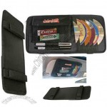 Multipurpose CD/DVD Visor Caddy With Soft Cloth Compartments