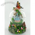 Musical Butterfly Garden Flower Snow Globe Water Ball
