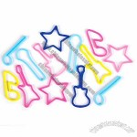 Musical Instruments Shapes Rubber Band - Assorted Shapes & Colors