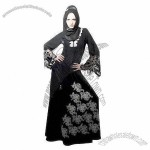 Muslim Bridale Wedding Abaya Gown, Quality Embroidery Designer