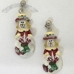 NOSTALGIC SNOWMAN CHRISTMAS EARRINGS