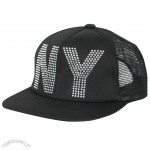 NY Rhinestone Studs New era w/ Adjustable Strap Snapback Trucker Hat
