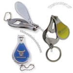 Nail Clippers Keychain with Bottle Opener