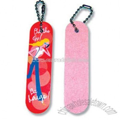 Nail files with keychain