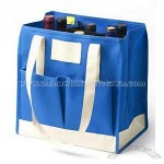 Nantucket Bay Blue 6 Bottle Wine Tote