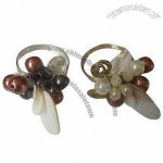 Napkin Rings with Imitation Pearls and Shells