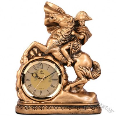 Napoleon horse riding Clock