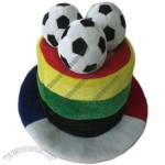 National Flag Football Fans Carnival Hat With Ball in Top