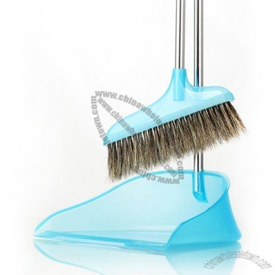 Natural Bristles Brooms and Dustpan Set
