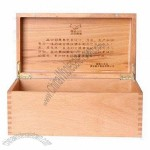 Natural Finish Wooden Gift Box for Wine with Stamped Logo
