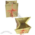 Natural jute bags, used for packing gifts or food