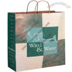 Natural kraft paper shopping bag with twisted paper handles