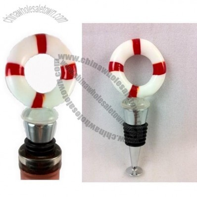 Nautical Bottle Stopper Life Preserver