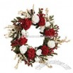 Nearly Natural 24-Inch Artificial Hydrangea Wreath with White Roses