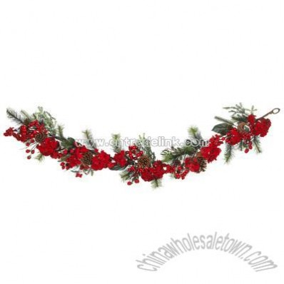 Nearly Natural 72-Inch Artificial Hydrangea Garland