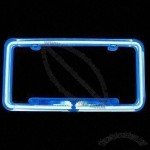 Neon Car License Frame with Optional Sound Activation