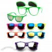 Neon Flip Up Lenses, Wayfarer Style Sunglasses