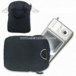 Neoprene Camera Bag with zipper Closure and Metal D-ring on the Top