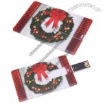 New 2GB 2G Christmas Wreath Pattern Card USB Flash Drive For Christmas Gift