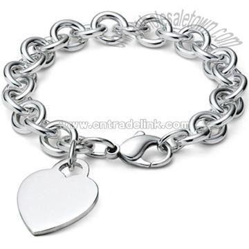 STAINLESS STEEL BICYCLE CHAIN LINK BRACELET 8.5QUOT; - MONSTER STEEL