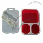 New Arrival Collapsible Lunch Box, Made of Silicone and Plastic