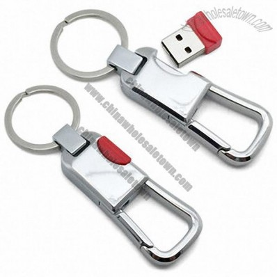 New Arrival Metal keychain USB Flash Drive