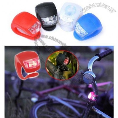 New Beetle Frog Silicone LED Bicycle Lamp Bicycle Caution Light