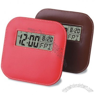 New Design Leather Clock
