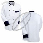 New Design Long Sleeve Black Trim Chef Coat