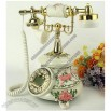 New Fashion Vintage Old Fashioned Pink Rose Telephone Classical European style