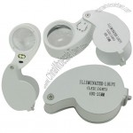 New Genuine 40X25mm White LED 6shaped Jewelry Magnifier