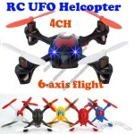 New Mini 2.4G 4CH 6 Axis Gyro 3D RC Remote Control UFO Helicopter UFO Flying